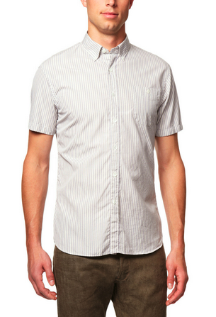 Fit is key. A loose short-sleeve button up makes you look like a sloppy tourist on vacation in a warm climate... or the aforementioned Dwight Schrute.